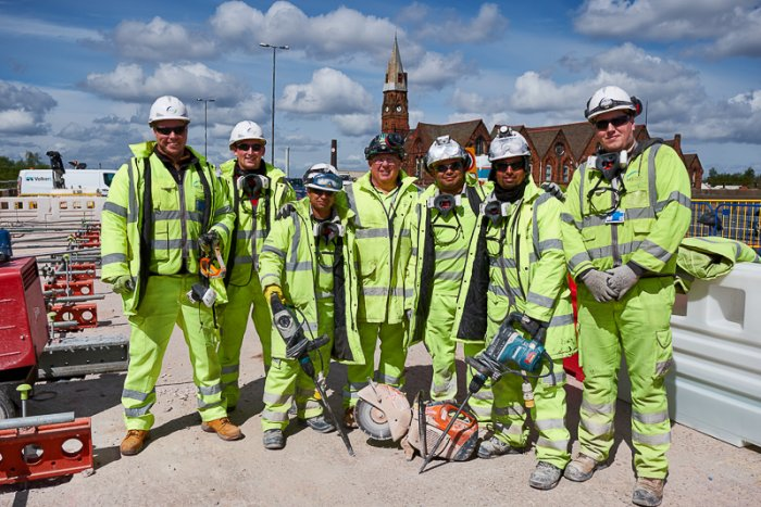 Oldbury Viaduct Repairs approaching South-bound Completion